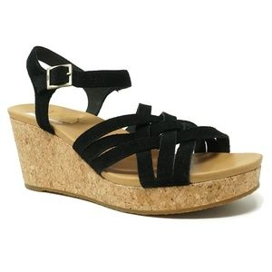 NEW Ugg Cork Uma Wedge Sandals Size 10